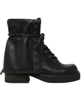 50mm Leather Army Boots