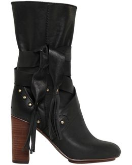 90mm Leather Boots