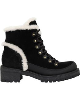 30mm Cooper Suede & Shearling Boots