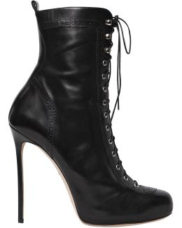 120mm Witness Lace-up Leather Boots
