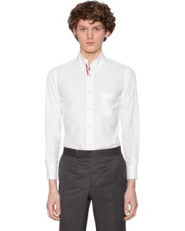 Cotton Poplin Shirt W/ Printed Stripes