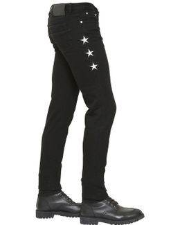 15.5cm Stretch Cotton Denim Jeans