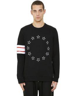 Cuban Fit Stars Cotton Jersey Sweatshirt
