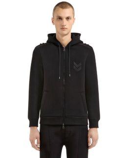Neoprene Hooded Sweatshirt W/ Patches