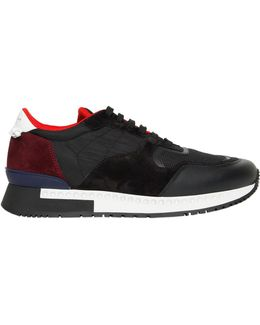 Leather, Suede & Mesh Running Sneakers