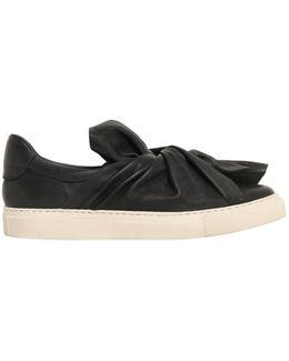 20mm Knot Leather Slip-on Sneakers