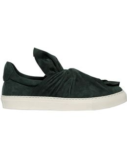 20mm Knot Suede Slip On Sneakers