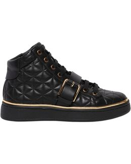 20mm Active Quilted Leather Sneakers