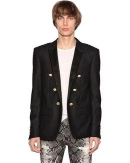 Wool Jacket W/ Satin Lapels