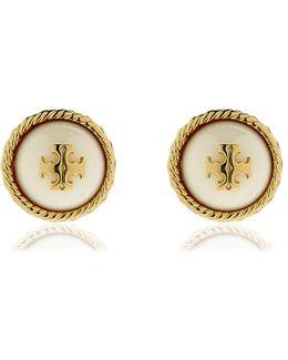 Rope Pearl Stud Earrings