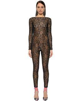 Sheer Lace Jumpsuit