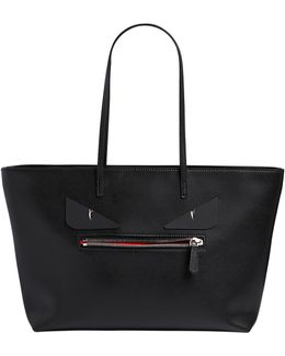 Monster Bugs Leather Tote Bag