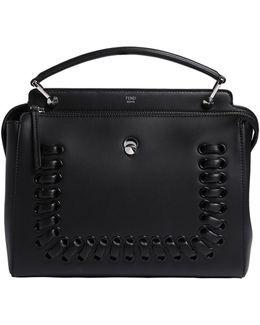 Medium Dot Com Lace-up Leather Bag