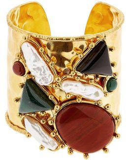 Manchtte Artsty Cuff Quartz Bracelet