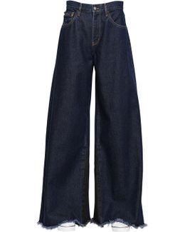 Extreme Wide Leg Dark Wash Denim Jeans