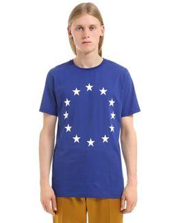 Europe Printed Cotton Jersey T-shirt