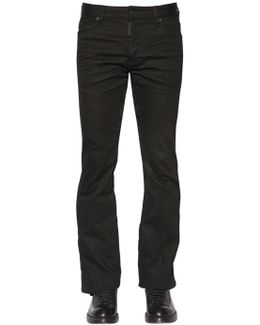 24cm Ski Stretch Drill Jeans W/ Tulle