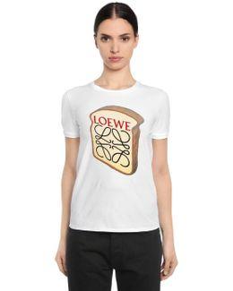 Slim Fit Toast Flocked Jersey T-shirt