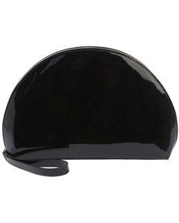 Mini Moon Patent-leather Clutch