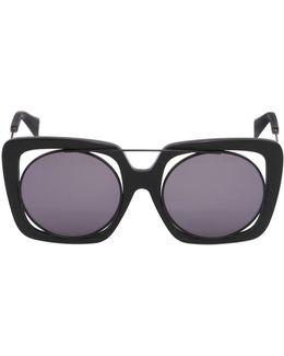Large Squared Frame In Frame Sunglasses