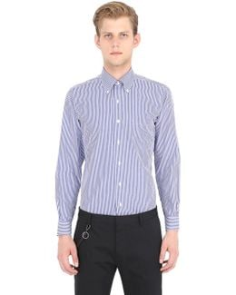 Milano Striped Cotton Pinpoint Shirt