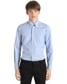 Milano Slim Cotton Oxford Shirt