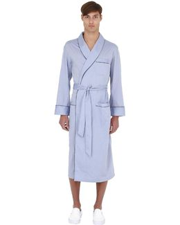 Piping Broad Cotton Robe