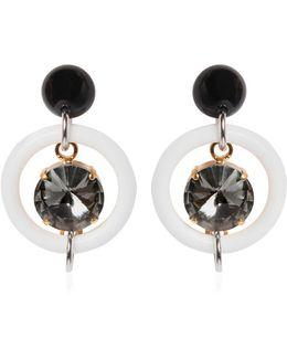 Glass Crystal Hoop Earrings