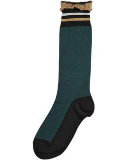 Cotton Socks W/ Lurex