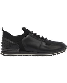 Neoprene & Leather Running Sneakers