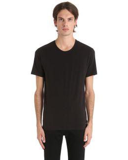 Basic Crewneck Stretch Jersey T-shirt