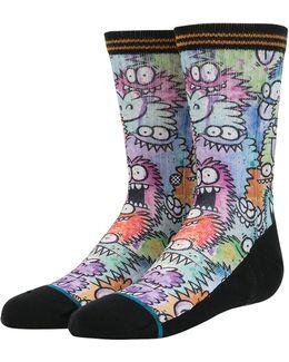Monster Party Sub Cotton Blend Socks