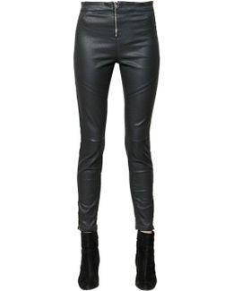 Seductive Moto Skinny Coated Denim Jeans