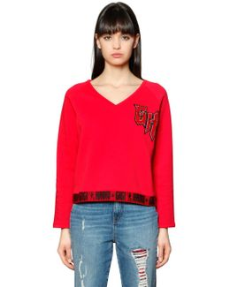 Gh Patch Cotton Sweatshirt Gigi Hadid