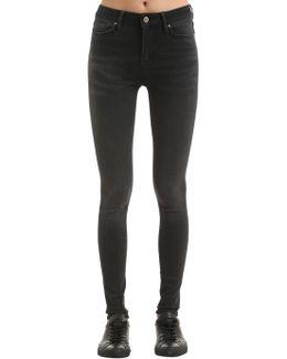 High Rise Stretch Denim Jeans Gigi Hadid