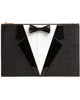 Tux Textured Leather Pouch