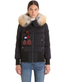 Hotas Down Bomber Jacket W/ Fur Trim