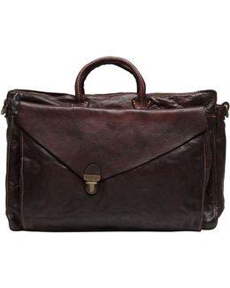 Vintage Effect Leather Briefcase