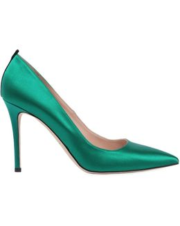 Fawn Satin Pointed-toe Pump