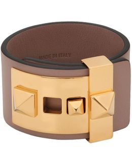 Rockstud Leather Cuff Bracelet