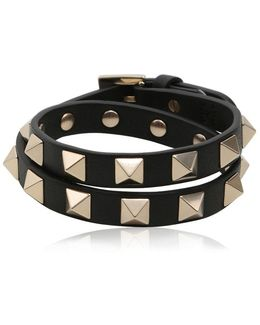 Rockstud Wrap Around Leather Bracelet