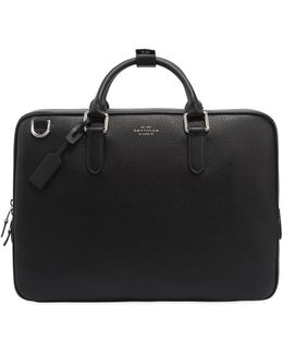 Burlington Soft Leather Slim Briefcase