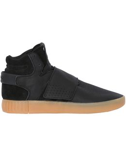 Tubular Invader Strap Mid Top Sneakers