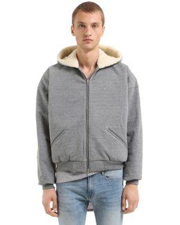 Hooded Zip-up Sweatshirt W/ Wool Lining