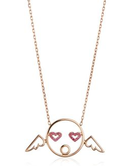 Cupid Pendant Necklace With Diamonds