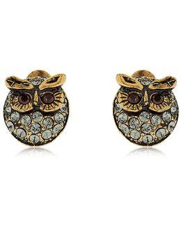 Glenda & Gilda Owl Stud Earrings