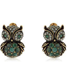 Sophie & Claire Owl Stud Earrings