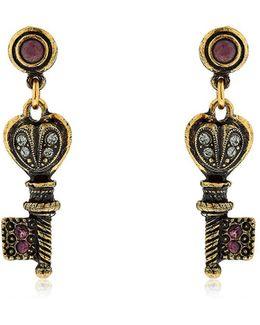 Agata Key Earrings