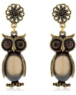 Kira & Melita Owl Pendant Earrings