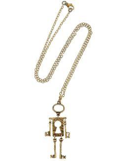 Chiave Mossa Pendant Necklace